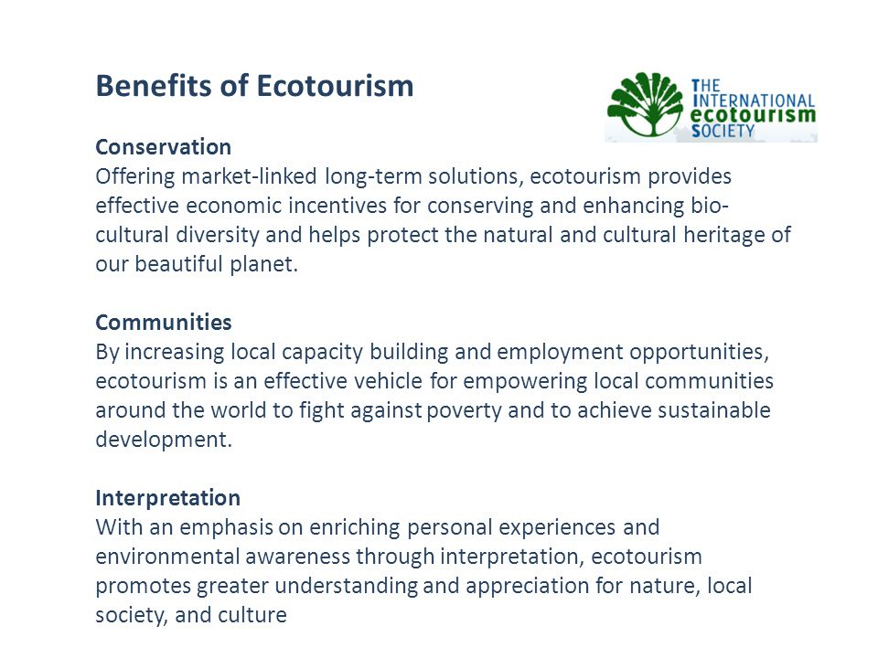 Benefits of Ecotourism