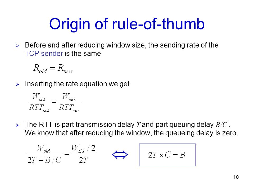 Origin of rule-of-thumb