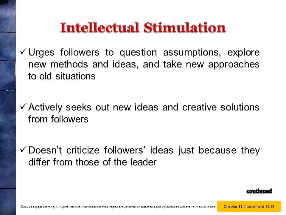 Intellectual Stimulation