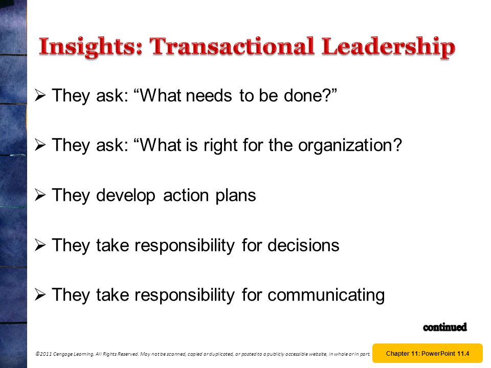 Insights: Transactional Leadership