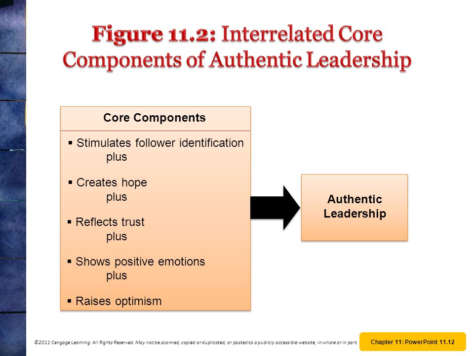 Figure 11.2: Interrelated Core Components of Authentic Leadership
