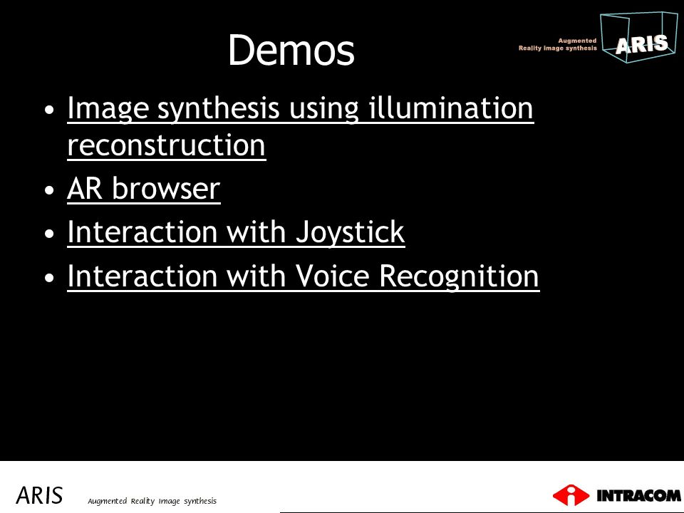 Demos Image synthesis using illumination reconstruction AR browser