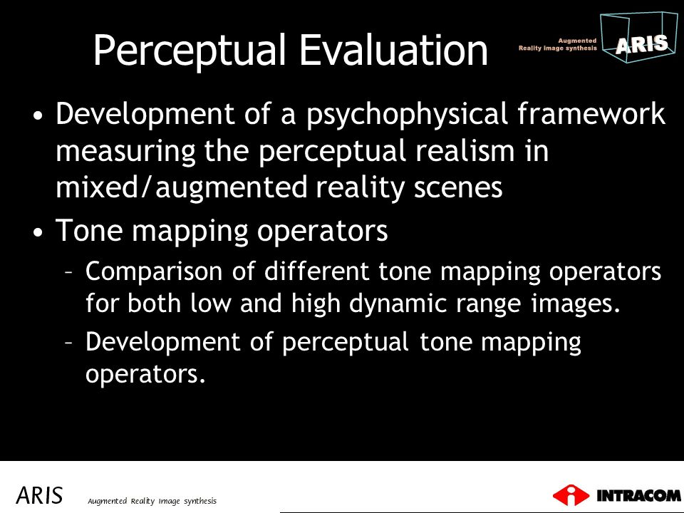 Perceptual Evaluation