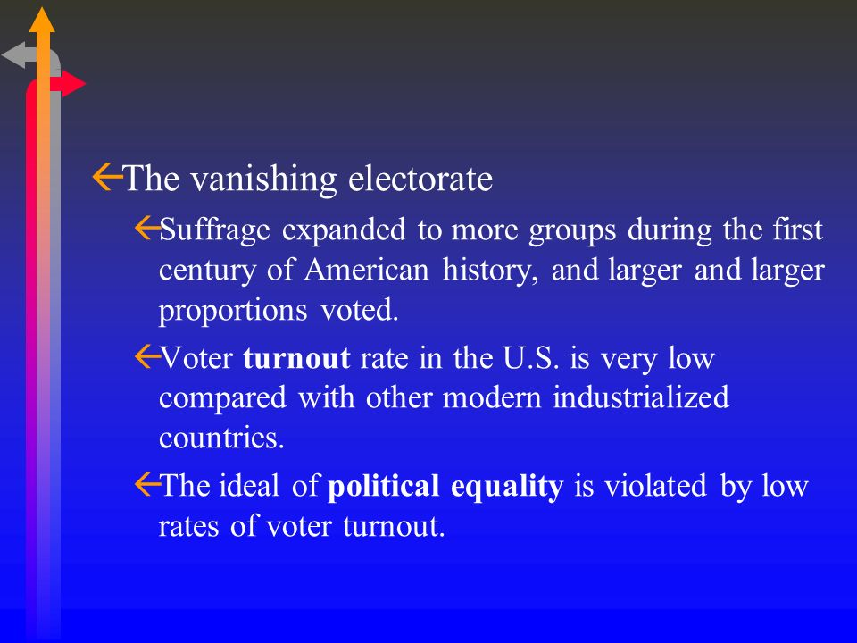 The vanishing electorate