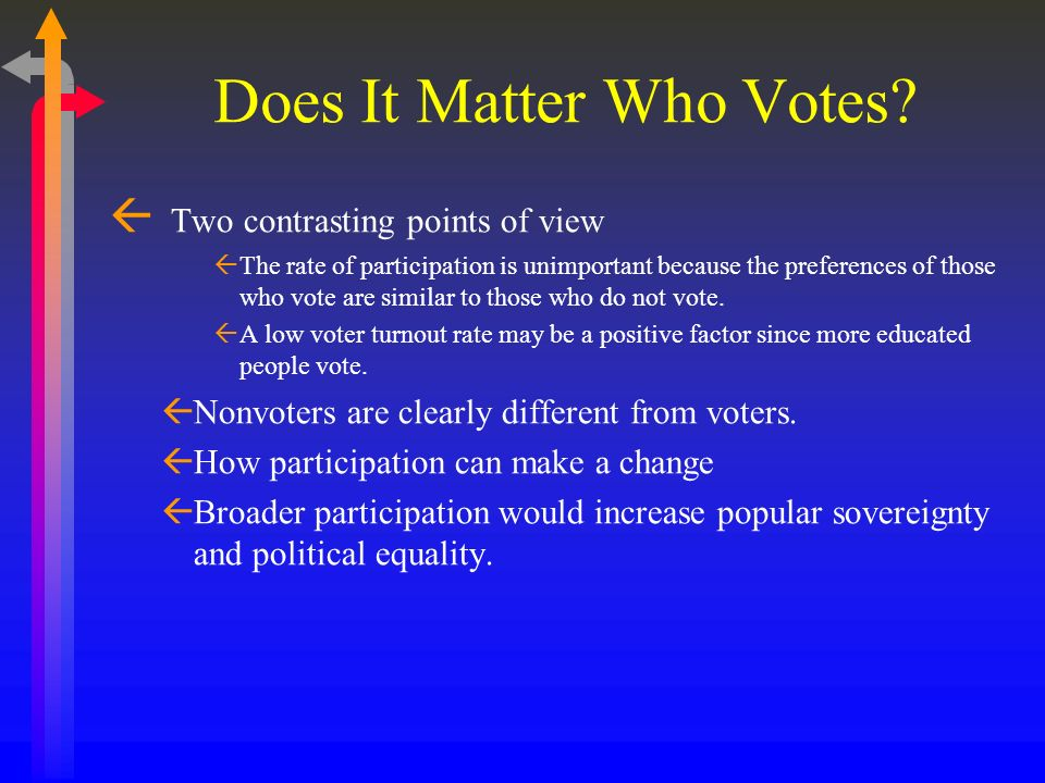 Does It Matter Who Votes