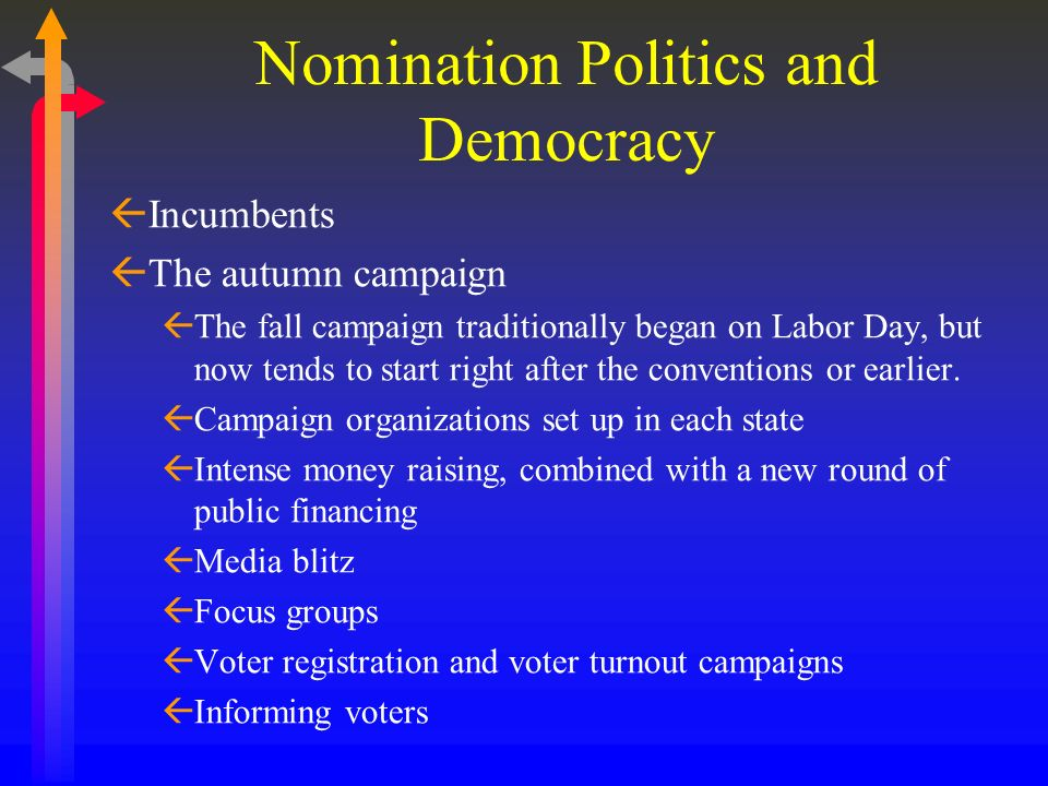 Nomination Politics and Democracy