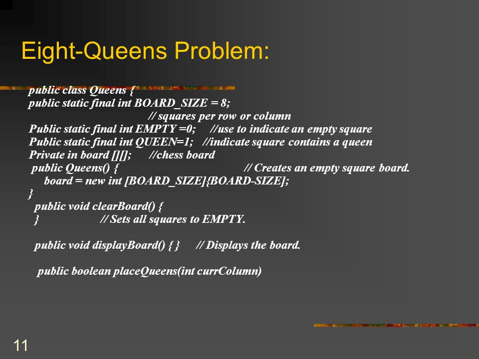 Eight-Queens Problem: