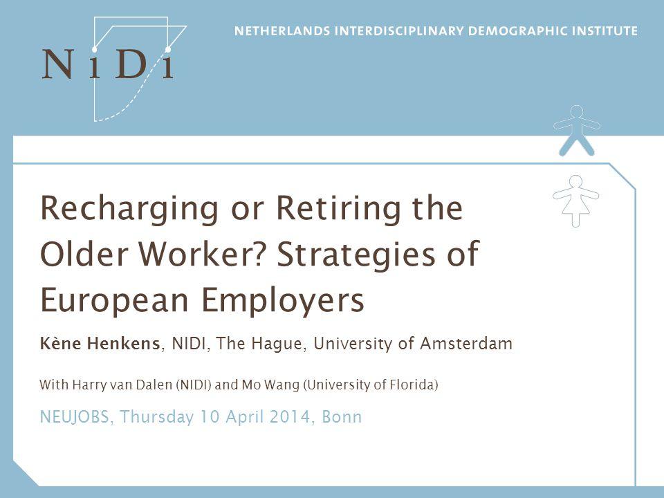 Recharging or Retiring the Older Worker
