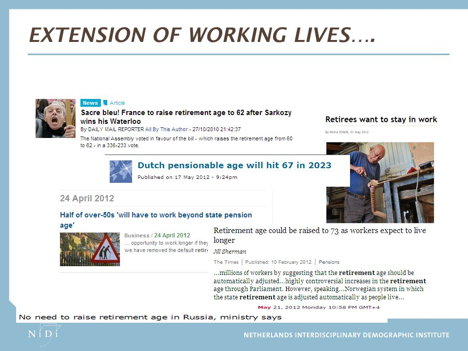 Extension of working lives….