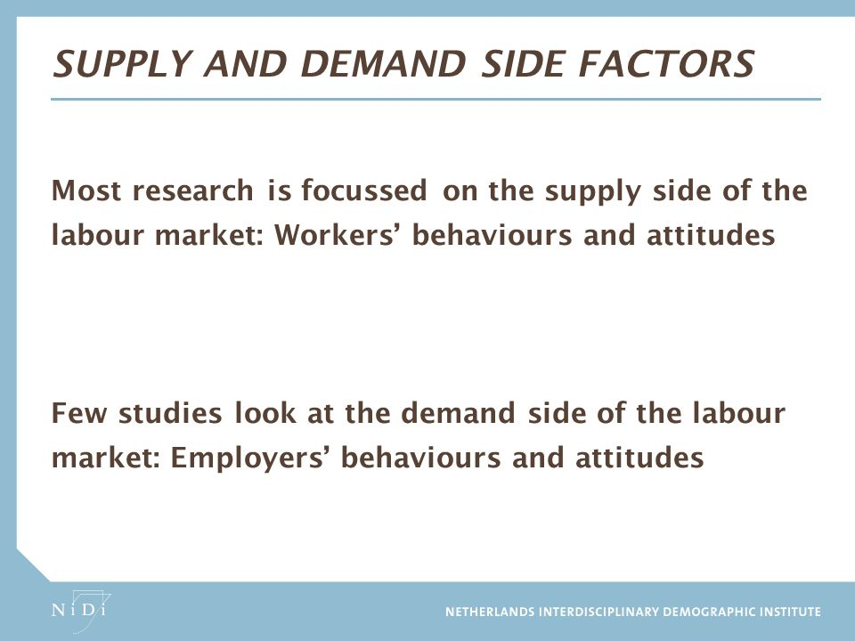 Supply and demand side factors