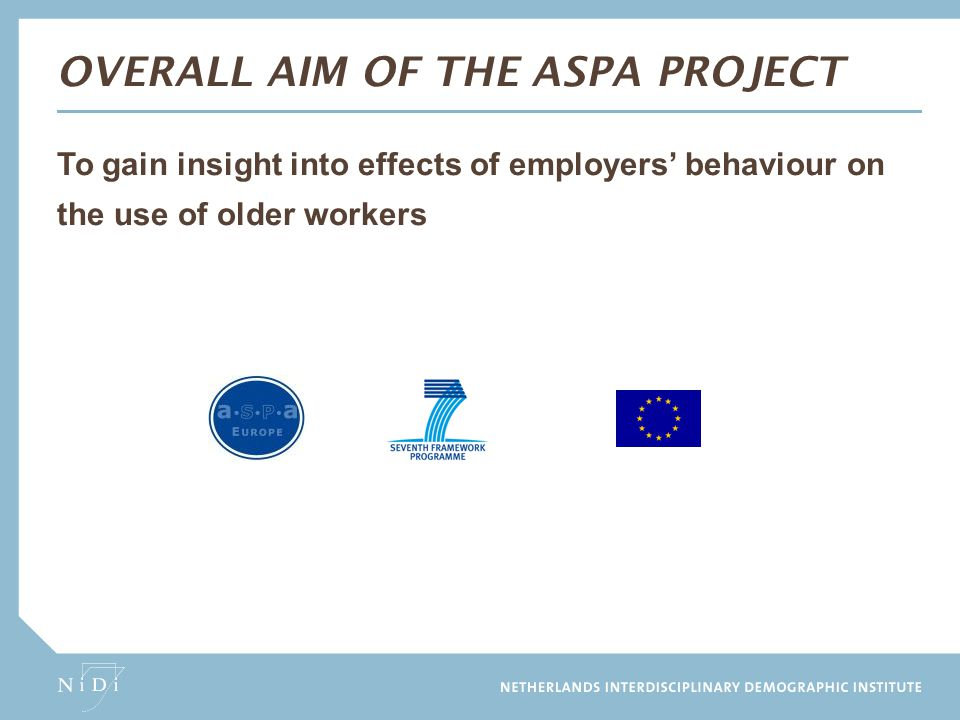 Overall Aim of the ASPA project
