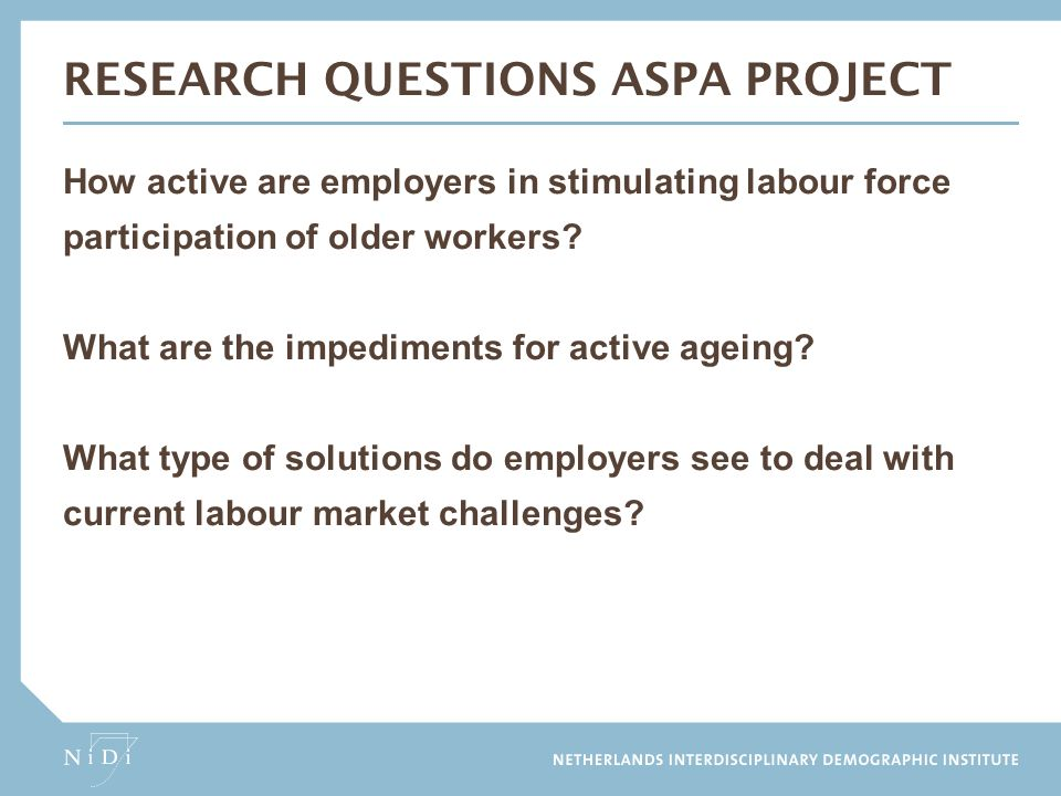 research questions aspa project