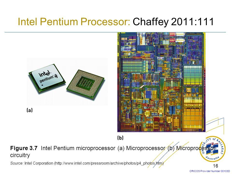 Intel Pentium Processor: Chaffey 2011:111