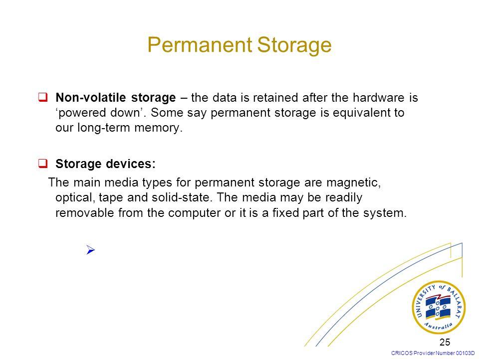 Permanent Storage