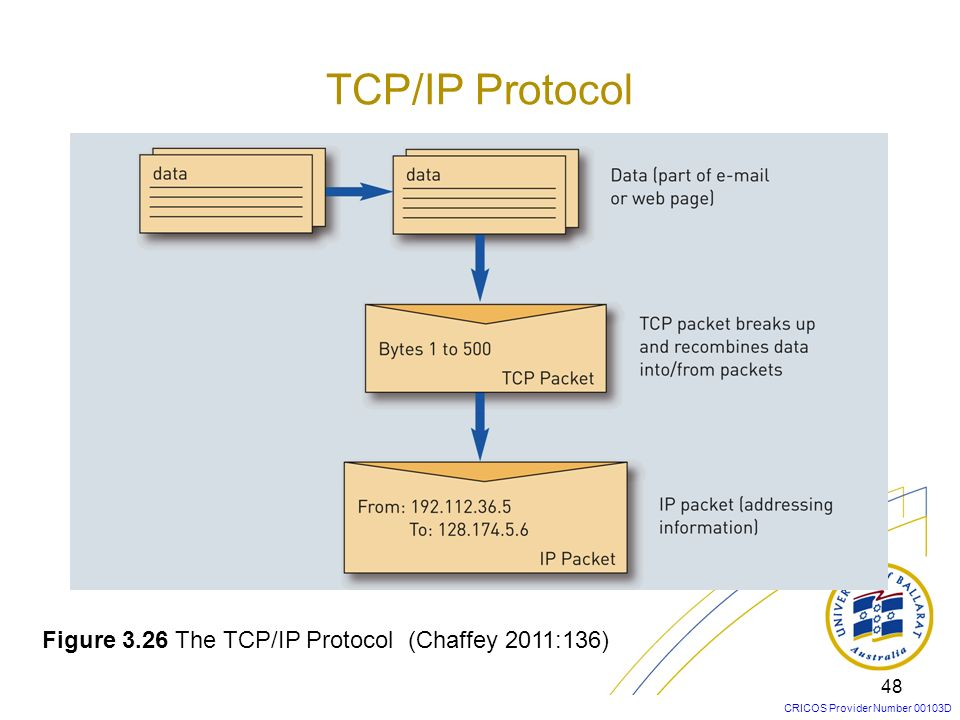 TCP/IP Protocol Figure 3.26 The TCP/IP Protocol (Chaffey 2011:136)