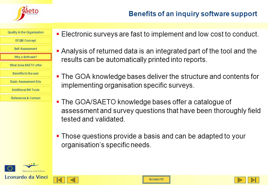 Benefits of an inquiry software support