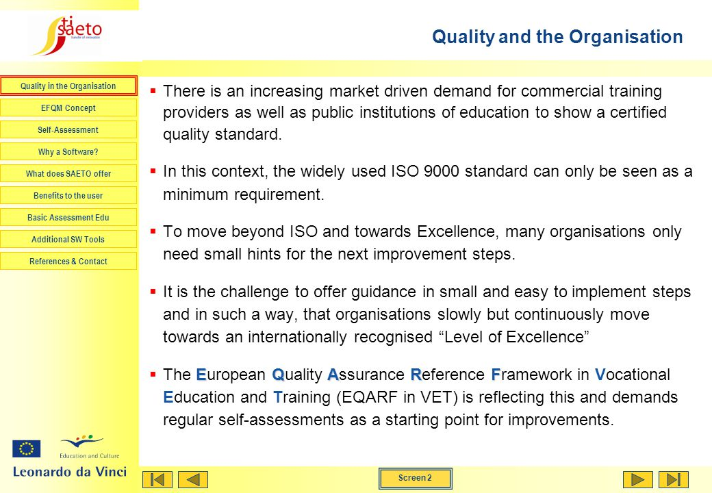 Quality and the Organisation
