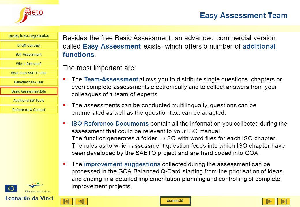 Easy Assessment Team