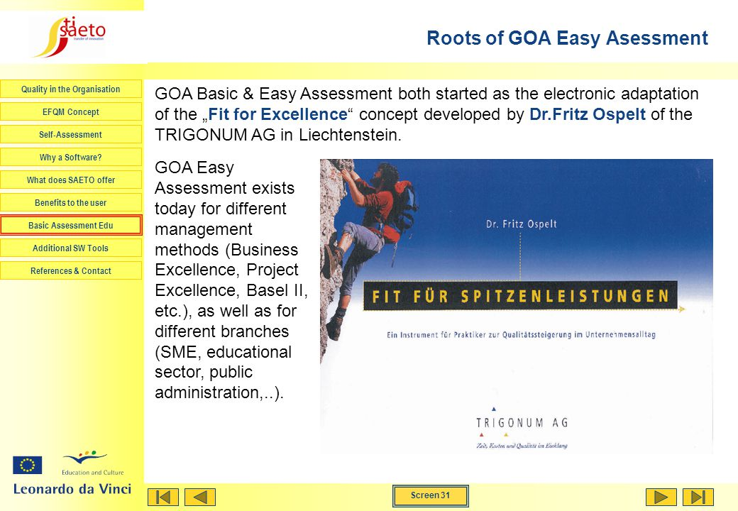 Roots of GOA Easy Asessment