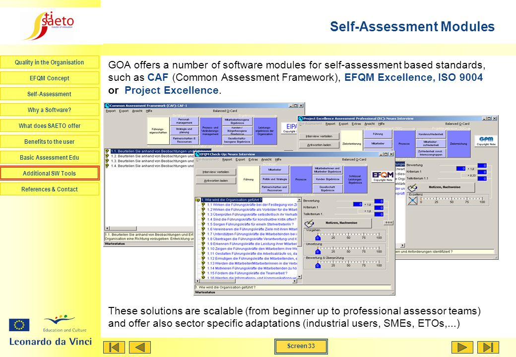 Self-Assessment Modules