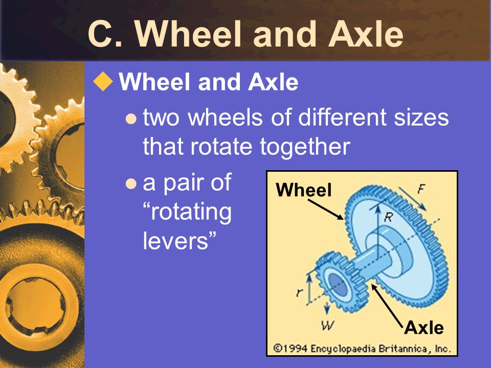 C. Wheel and Axle Wheel and Axle