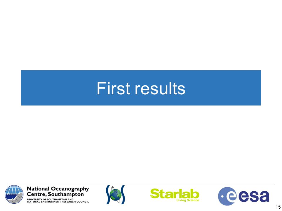 First results