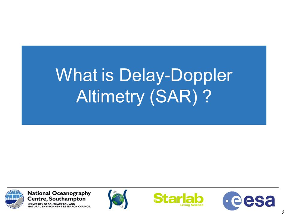 What is Delay-Doppler Altimetry (SAR)