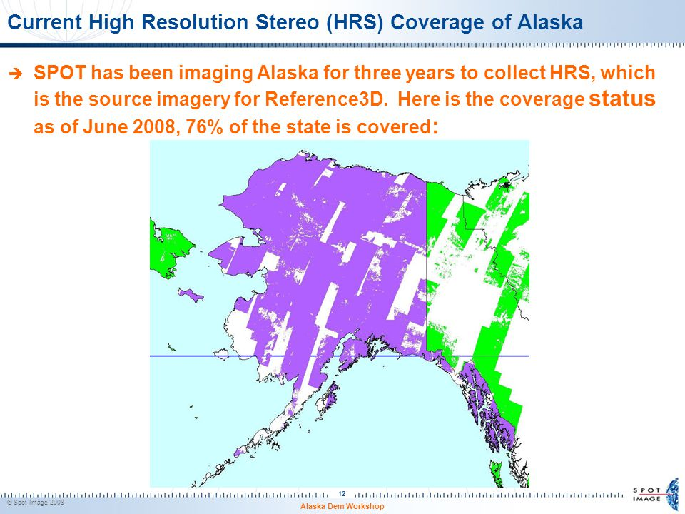 Current High Resolution Stereo (HRS) Coverage of Alaska