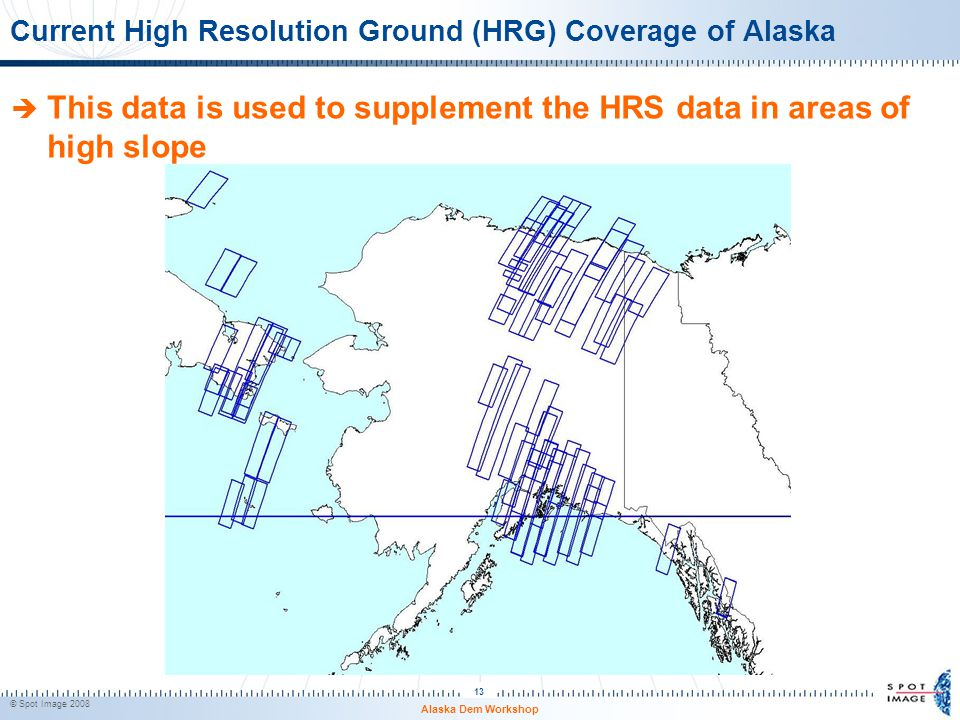 Current High Resolution Ground (HRG) Coverage of Alaska