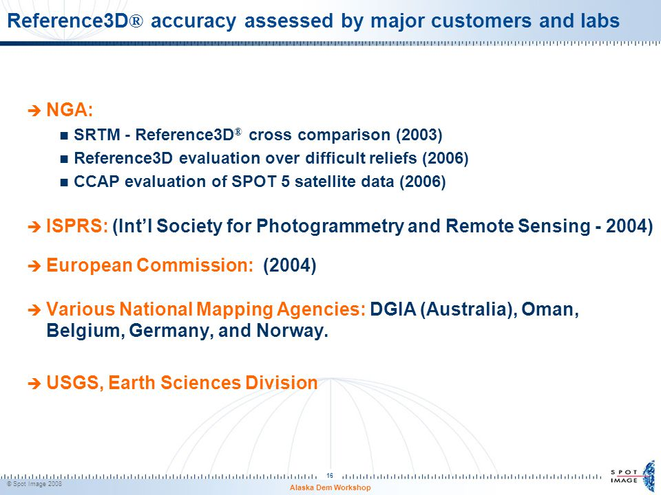 Reference3D® accuracy assessed by major customers and labs