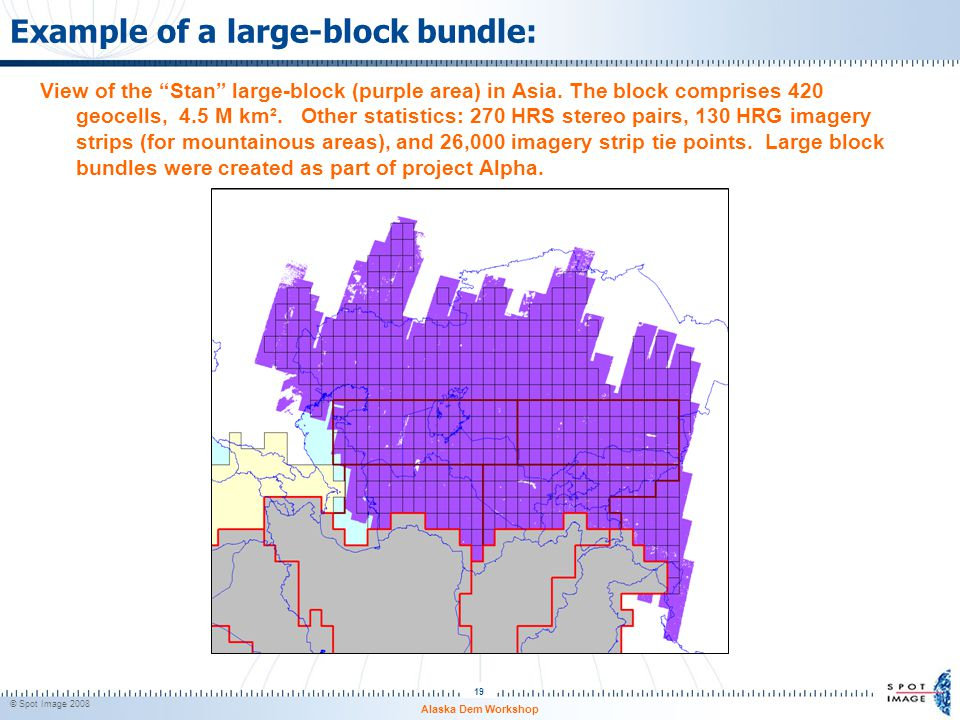 Example of a large-block bundle:
