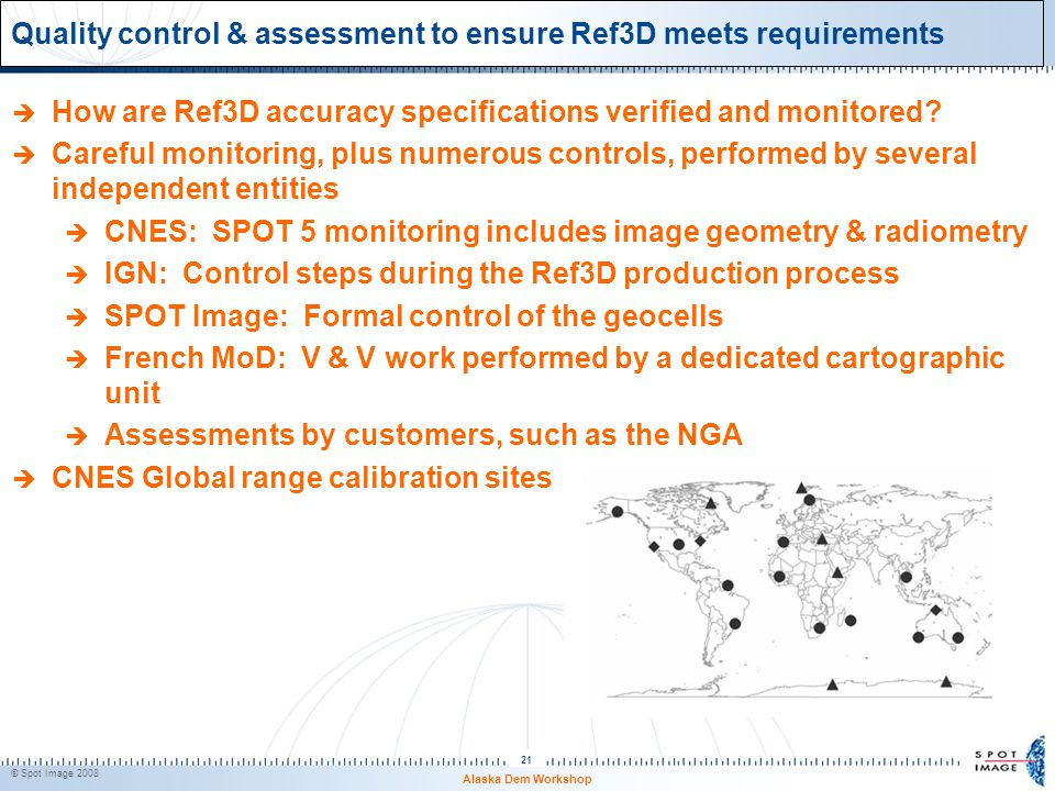 Quality control & assessment to ensure Ref3D meets requirements