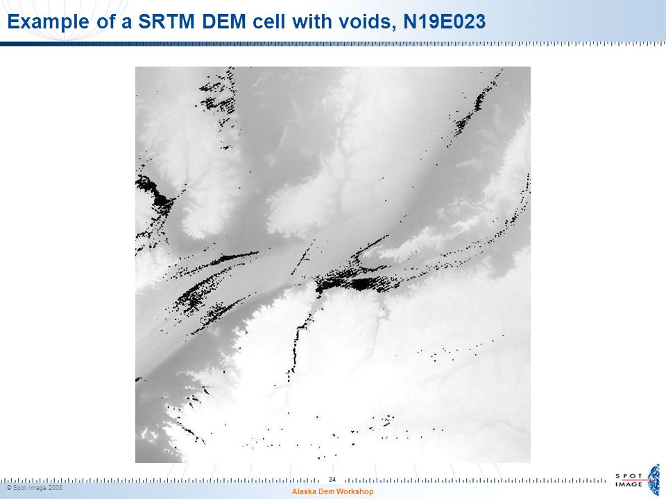 Example of a SRTM DEM cell with voids, N19E023