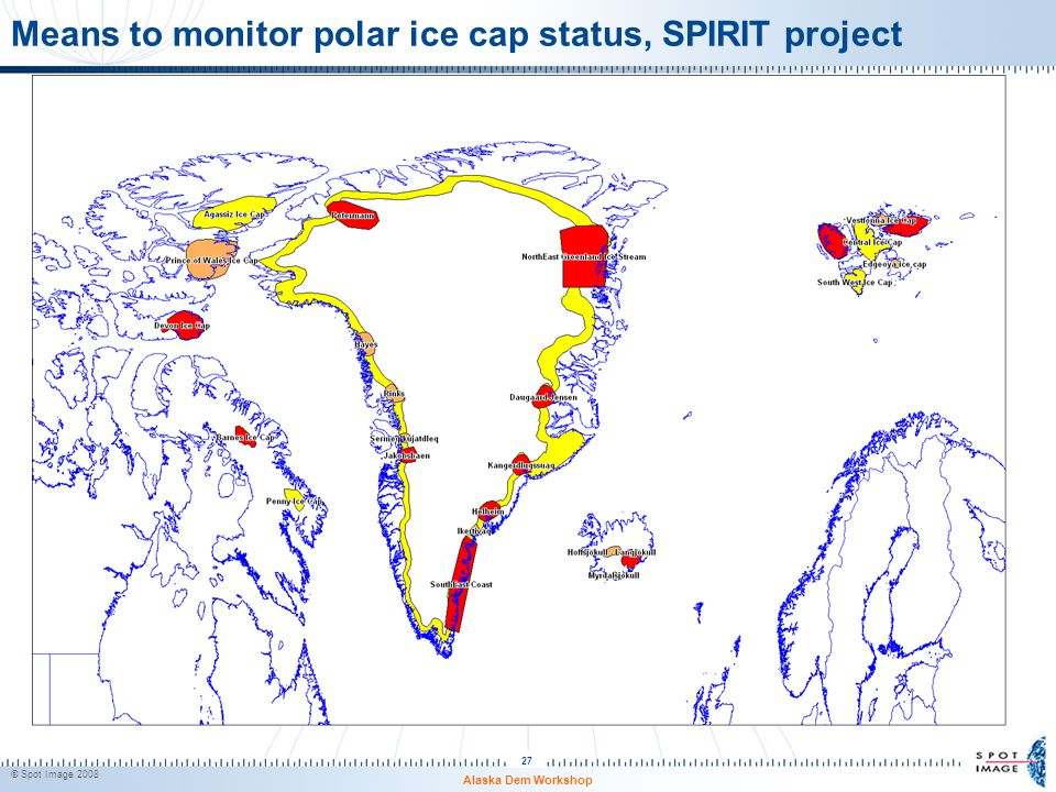 Means to monitor polar ice cap status, SPIRIT project