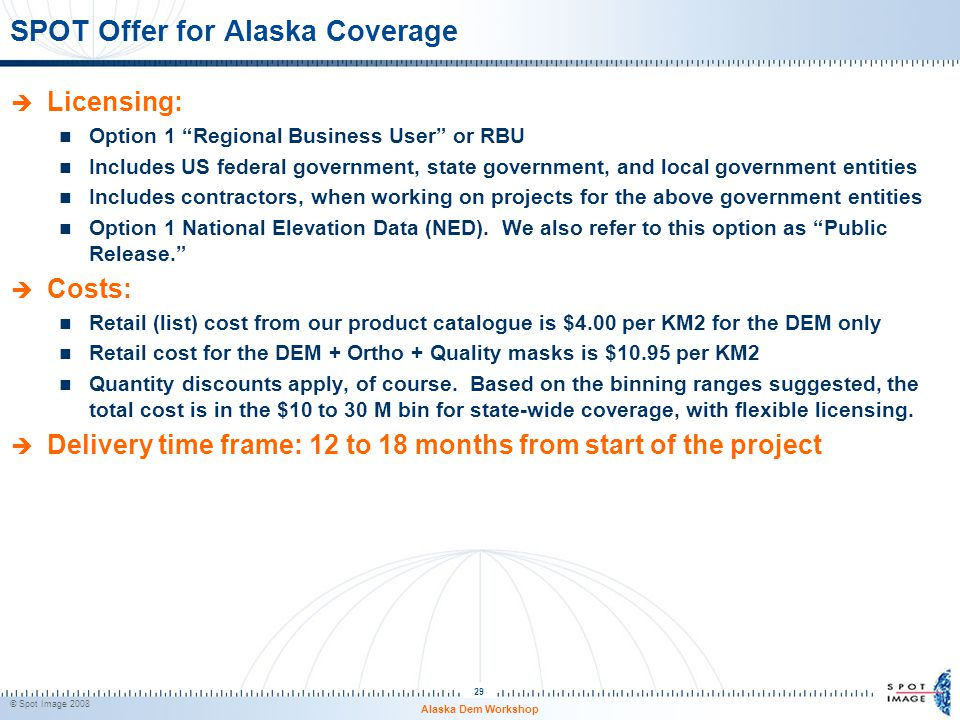 SPOT Offer for Alaska Coverage