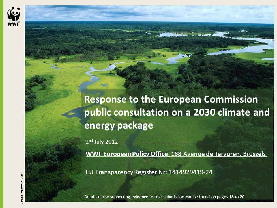 Response to the European Commission public consultation on a 2030 climate and energy package