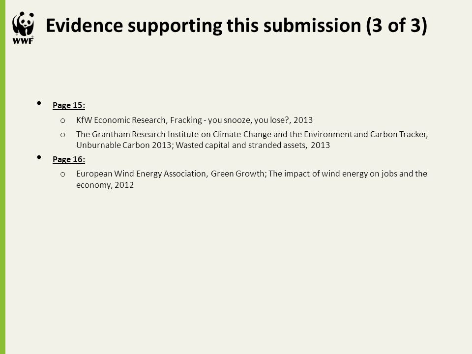 Evidence supporting this submission (3 of 3)