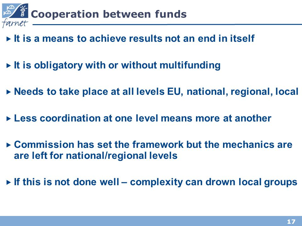 Cooperation between funds