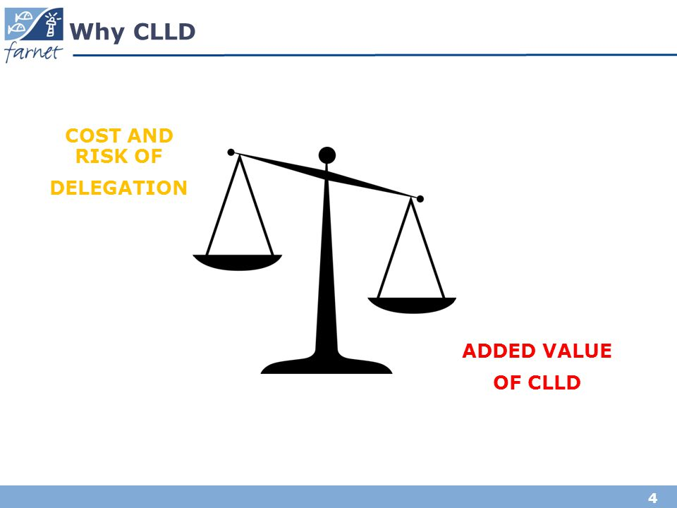 Why CLLD COST AND RISK OF DELEGATION ADDED VALUE OF CLLD