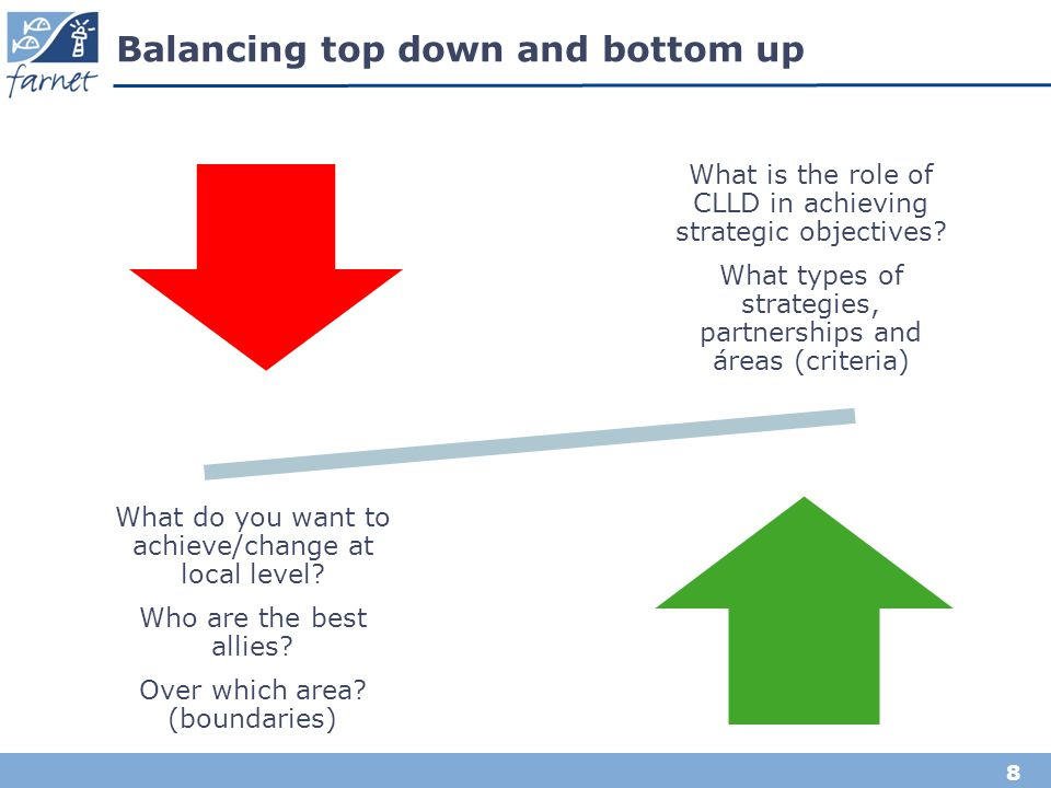 Balancing top down and bottom up
