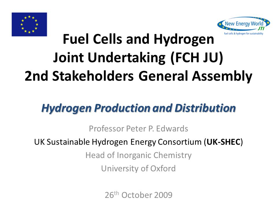 Hydrogen Production and Distribution