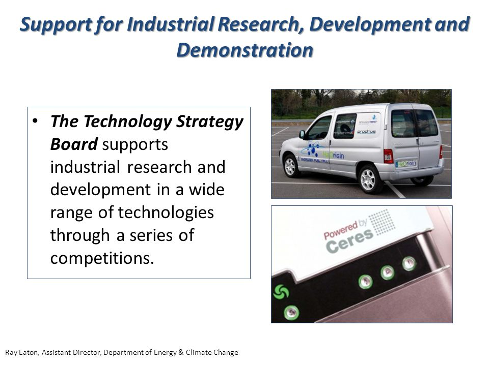 Support for Industrial Research, Development and Demonstration