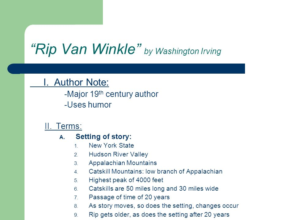 Rip Van Winkle by Washington Irving
