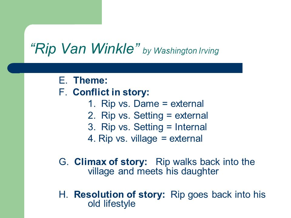 rip van winkle washington irving essay Washington irving rip van winkle plot overview and analysis written by an  experienced literary critic full study guide for this title currently under  development.