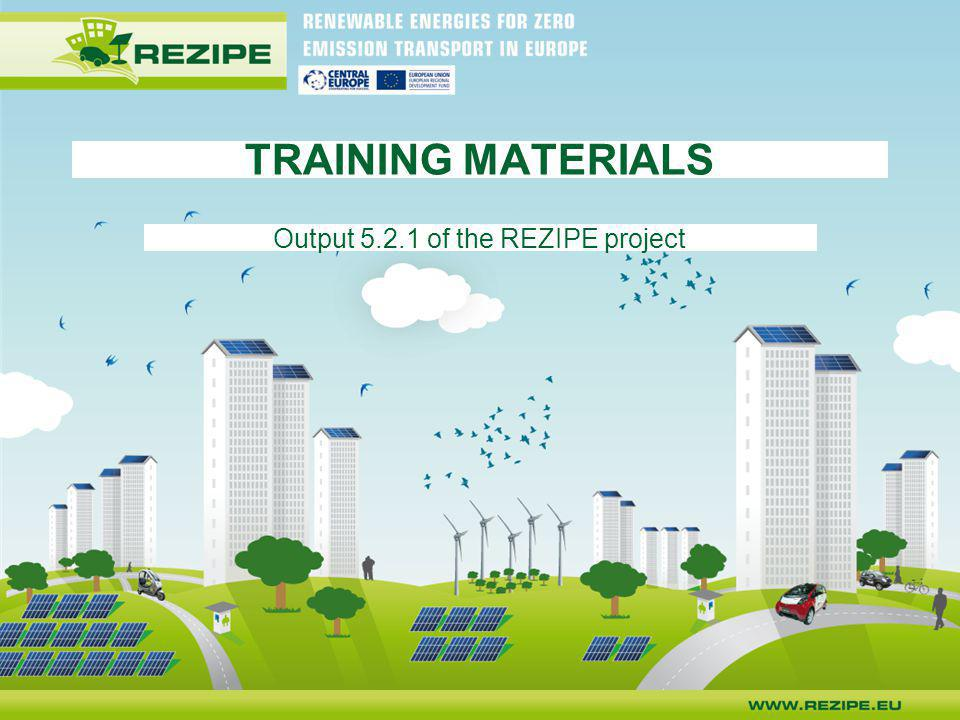 Output 5.2.1 of the REZIPE project
