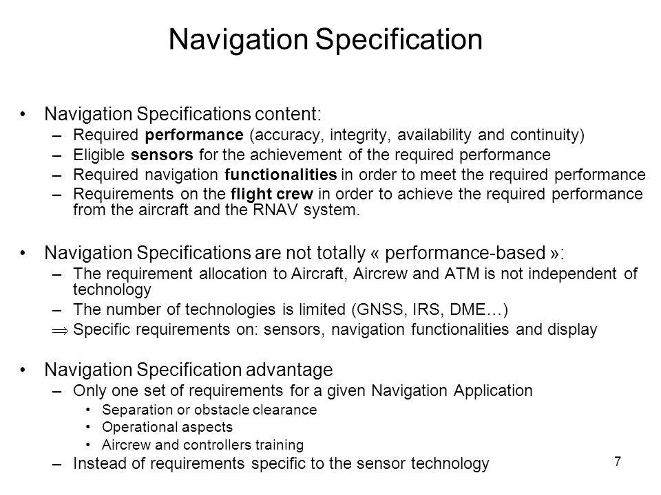 Navigation Specification
