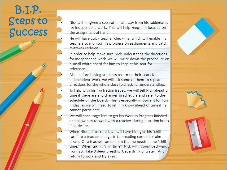 B.I.P. Steps to Success