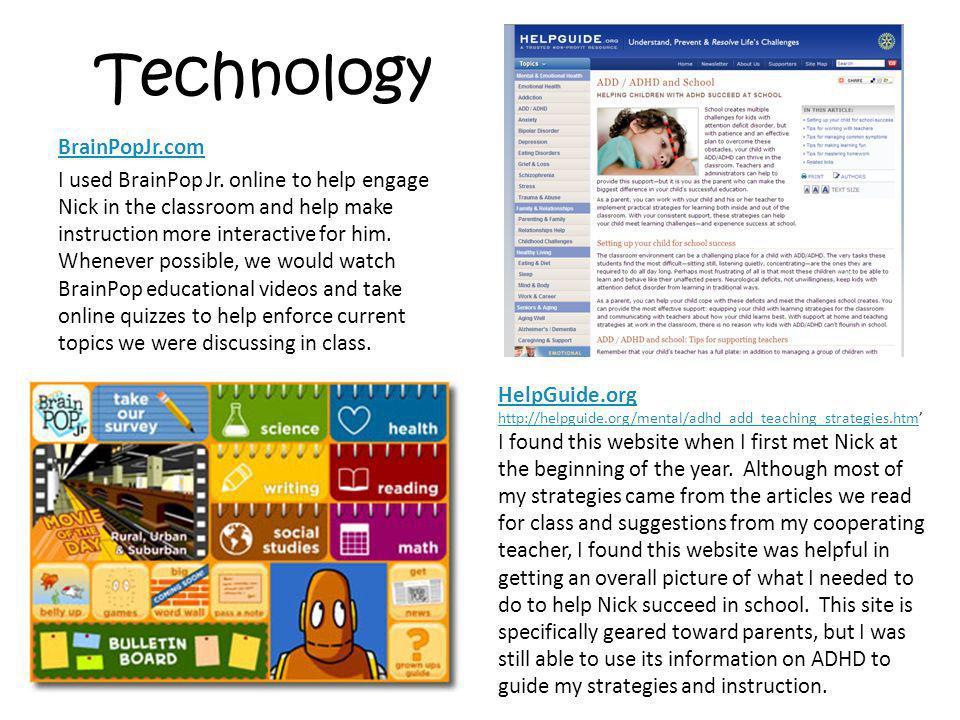 Technology BrainPopJr.com