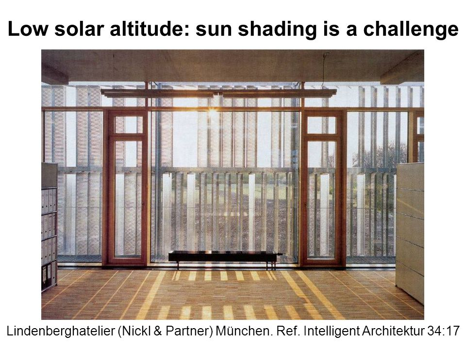 Low solar altitude: sun shading is a challenge