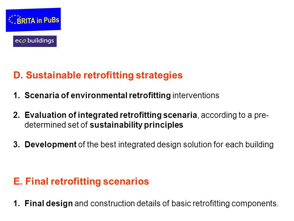 D. Sustainable retrofitting strategies